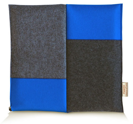 Ergonomisches Sitzkissen Bürostuhl Pad: FLOWMO Patchwork Blue
