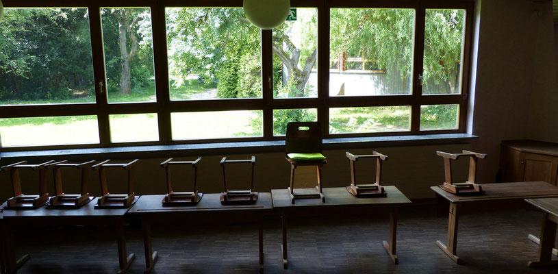 passt zum Ausblick :) - das Flowmo Pad für dynamisches Sitzen in der Schule