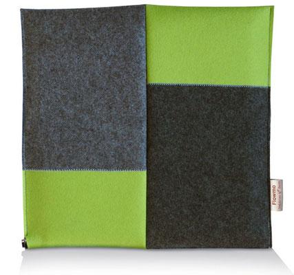 Ergonomisches Sitzkissen Bürostuhl Pad: FLOWMO Patchwork Lime