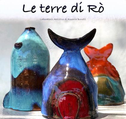 Pesci -Sculture da parete in Ceramica Le Terre di Rò