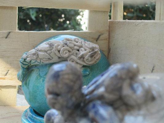 Portagioie ceramica Sirena e Polipo Le Terre di Rò