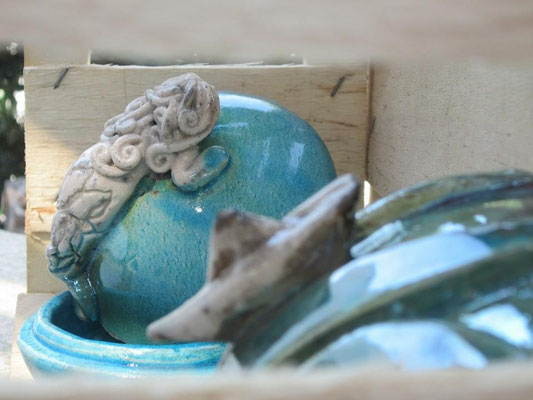 Portagioie ceramica Sirena e Barchetta Le Terre di Rò