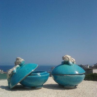 Portagioie ceramica Sirene Le Terre di Rò