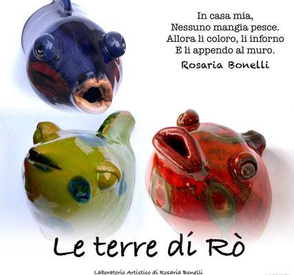 La Paranza Colorata - Sculture il ceramica Trittico varie dimensioni