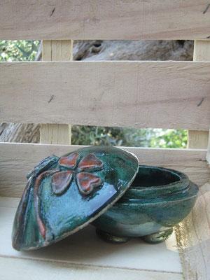 Portagioie ceramica Quadrifoglio Le Terre di Rò