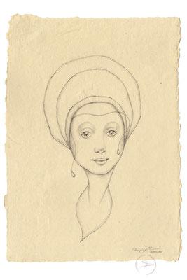 Spirit-Funke #017  (Graphit auf ca. 15,5 x 22 cm Büttenpapier) I For Sale