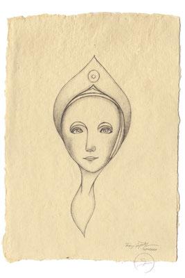 Spirit-Funke #02  (Graphit auf ca. 15,5 x 22 cm Büttenpapier) I –