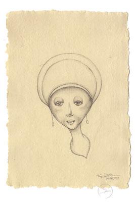 Spirit-Funke #04  (Graphit auf ca. 15,5 x 22 cm Büttenpapier) I For Sale