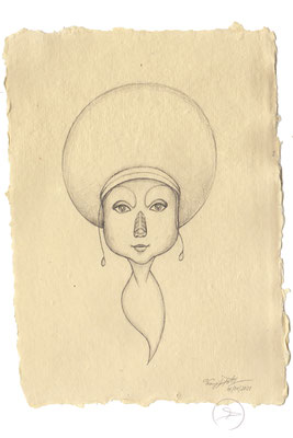 Spirit-Funke #06  (Graphit auf ca. 15,5 x 22 cm Büttenpapier) I For Sale