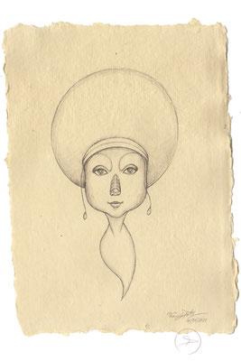 Spirit-Funke #06  (Graphit auf ca. 15,5 x 22 cm Büttenpapier) I For Sale: 95,- zzgl. Versandkosten