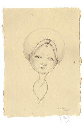 Spirit-Funke #08  (Graphit auf ca. 15,5 x 22 cm Büttenpapier) I For Sale