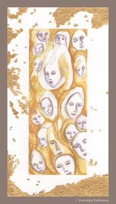 Spirit Calls I 7x13cm I Graphit+Aquarell auf Papier, glatte Struktur I 2021 I For Sale
