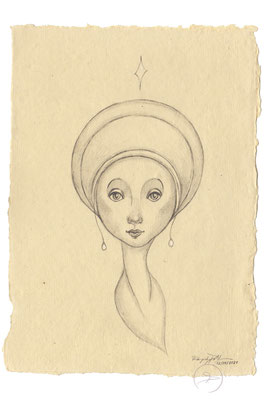 Spirit-Funke #01  (Graphit auf ca. 15,5 x 22 cm Büttenpapier) I For Sale