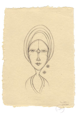 Spirit-Funke #24  (Graphit auf ca. 15,5 x 22 cm Büttenpapier) I For Sale