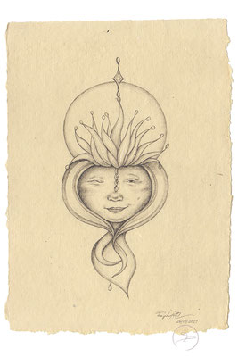 Spirit-Funke #16  (Graphit auf ca. 15,5 x 22 cm Büttenpapier) I For Sale: 95,- zzgl. Versandkosten