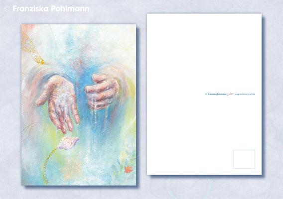 "Postkarte ""Engelshände"""
