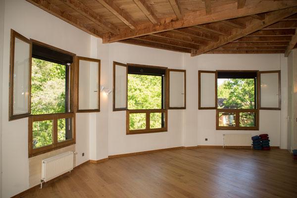 une salle pour les activités sportives indoor