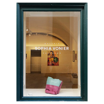 ART WINDOW No.1: Julia Haugeneder, Faltung 57, 2020, Glue and Pigment, 27x36x41 cm, Price on Request.