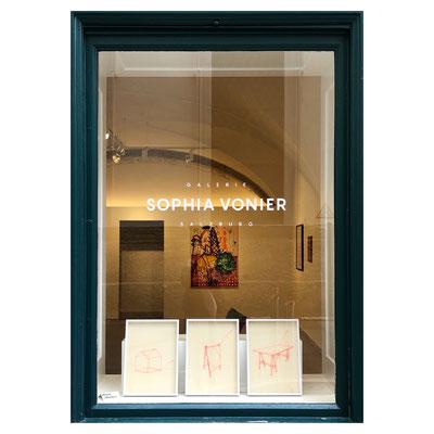 ART WINDOW No.2: Martina Mühlfellner, 2016/18, Nylon String on Wood, Price on Request.