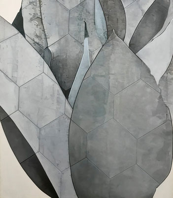 Dominik Louda, o.T, 2020, Öl und Gouache auf Leinwand, 120 x 105 cm