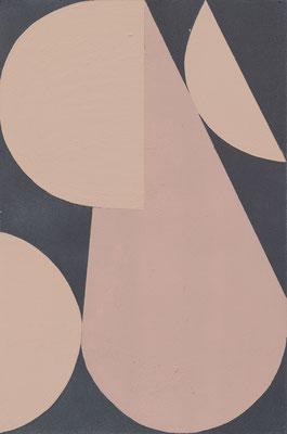 Elisa Alberti, o.T. aus der Serie Shapes, 2020, Acryl auf Holz, 30 x 20 cm