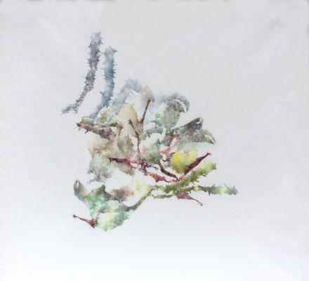Kristin Finsterbusch, unione 6, Zeichnung, Bleistift, Farbstift, 2016, 30 x 30 cm