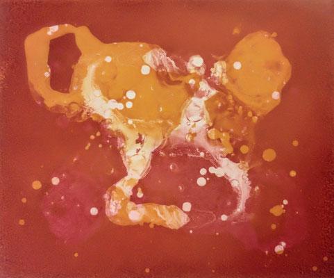 Kristin Finsterbusch, gemischtes Doppel 7.6, Aquatinta, 2019, 15 x 20 cm