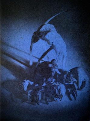 Kristin Finsterbusch, Kompromiss VII, Fotoradierung,  mehrfarbig überdruckt, 20 x 15 cm, 2018