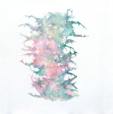Kristin Finsterbusch, unione 19, Zeichnung, Bleistift, Farbstift, 2017, 21 x 21cm