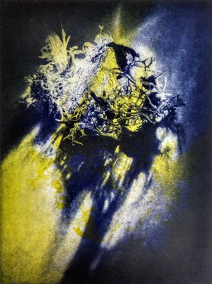 Kristin Finsterbusch, Kompromiss IV, Fotoradierung, 20 x 15 cm, 2018