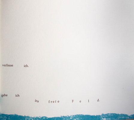 Kristin finsterbusch und Jin - Suk Kang,  Mein Wald, meine Landschaft, Künstlerbuch, Lithografie, Seite 17 von 23 Seiten, 1998, 21 x 25 cm, Auflage 20