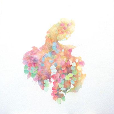 Kristin Finsterbusch, unione 20, Zeichnung, Bleistift, Farbstift, 2017, 21 x 21cm