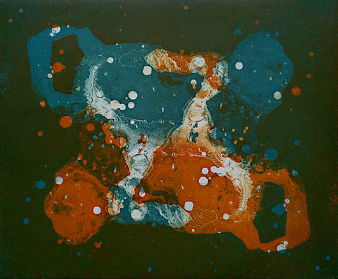 Kristin Finsterbusch, gemischtes Doppel 7.4, Aquatinta, 2019, 15 x 20 cm