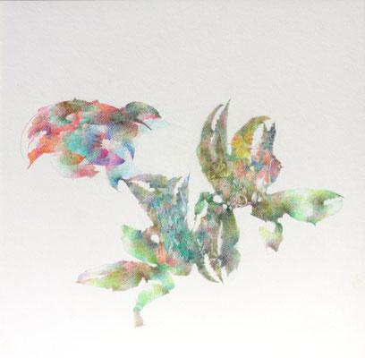 Kristin Finsterbusch, unione 16, Zeichnung, Bleistift, Farbstift, 2017, 21 x 21cm