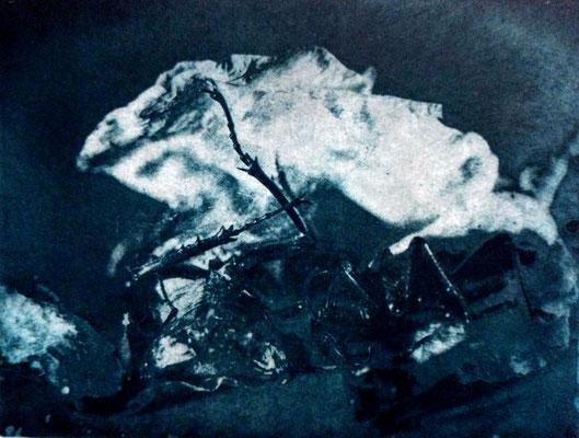 Kristin Finsterbusch, Kompromiss VIII, Fotoradierung,  mehrfarbig überdruckt, 15 x 20 cm, 2018