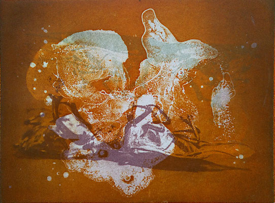 Kristin Finsterbusch, gemischtes Doppel 2, Fotoradierung und Aquatintaplatte, 2019, 15 x 20 cm