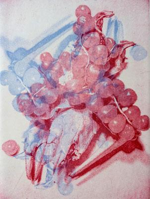 Kristin Finsterbusch, Kompromiss V, Fotoradierung, 20 x 15 cm, 2018