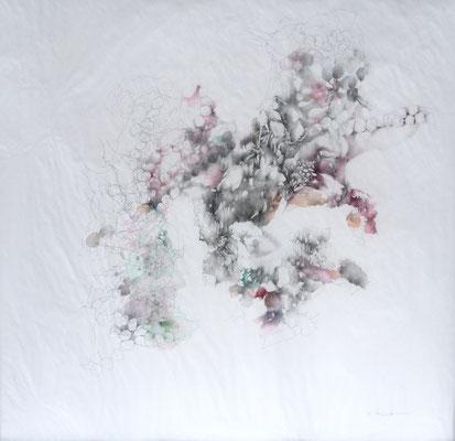 Kristin Finsterbusch, unione 1, Zeichnung, Bleistift, Farbstift, 2016, 30 x 30 cm