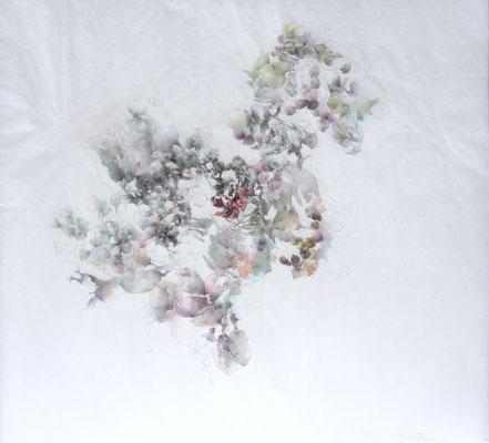 Kristin Finsterbusch, unione 2, Zeichnung, Bleistift, Farbstift, 2016, 30 x 30 cm