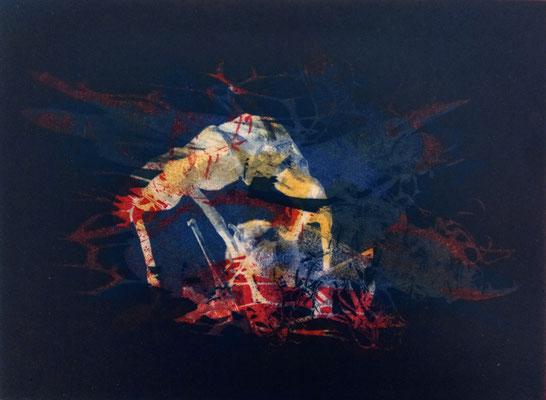 Kristin Finsterbusch, all frinds, Fotopolymerdruck, 4 Platten, 15x20cm, 2021