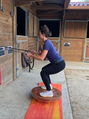 Travail sur la proprioception du cavalier, écurie les Rouillons, 89 Sens