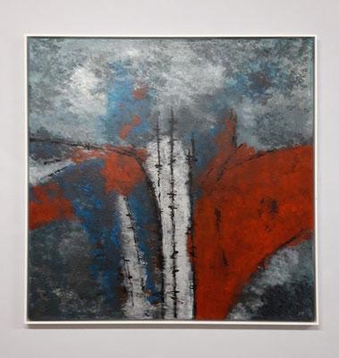 Spuren der Zeit (80 x 80, mit Rahmen, 900 CHF)