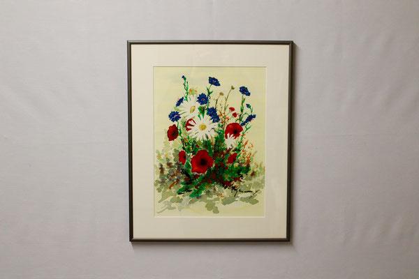 Blumen 3 (40 x 50, mit Rahmen, 420 CHF)