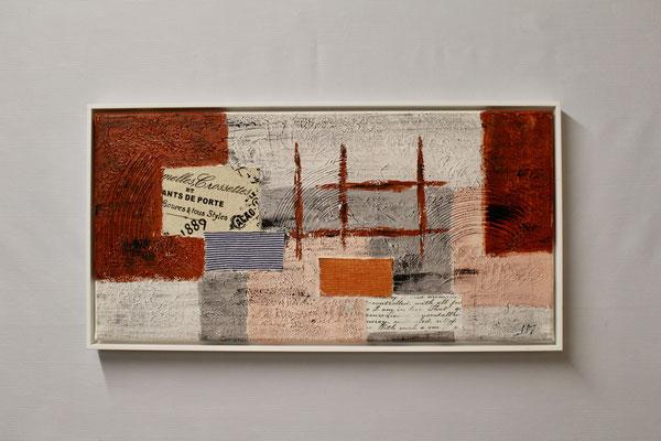 Abstrakte Fantasie  (30 x 60, mit Rahmen, 480 CHF)