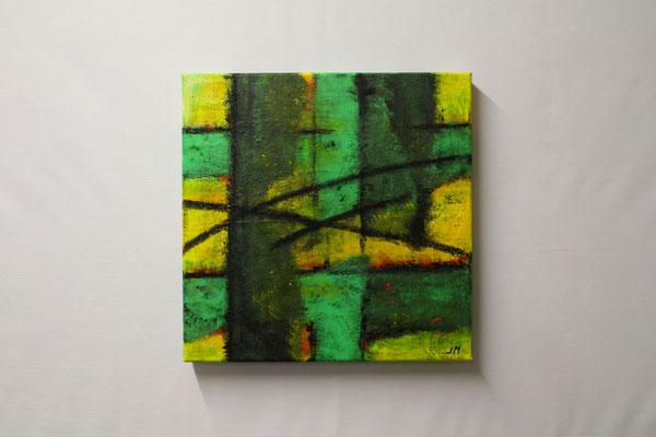 Frühlingserwachen (40 x 40, ohne Rahmen, 420 CHF)