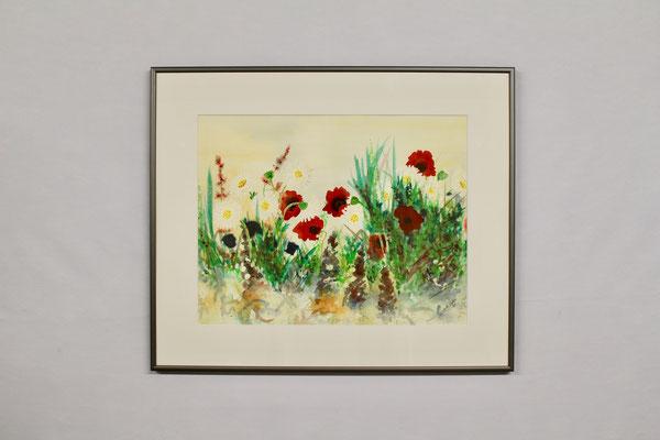 Blumenwiese (50 x 60, mit Rahmen, 540 CHF)