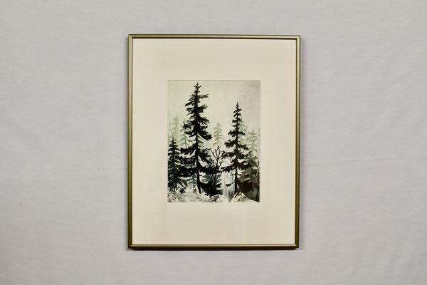 Winterstimmung im Wald (40 x 50, mit Rahmen, verkauft)