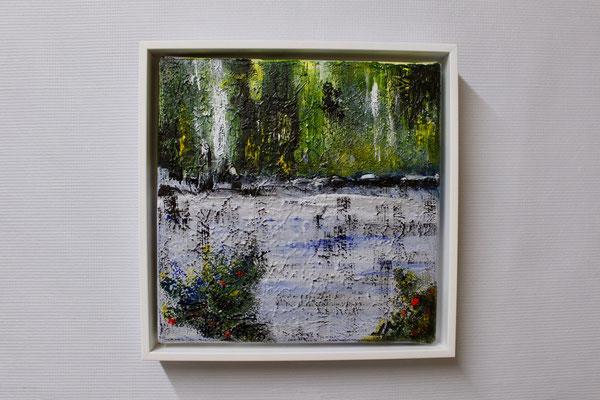 Am Wasser (20 x 20, mit Rahmen, 160 CHF)