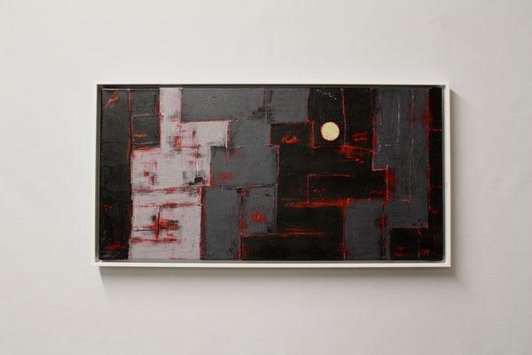 Stimmung in der Nacht (30 x 60, mit Rahmen, 480 CHF)