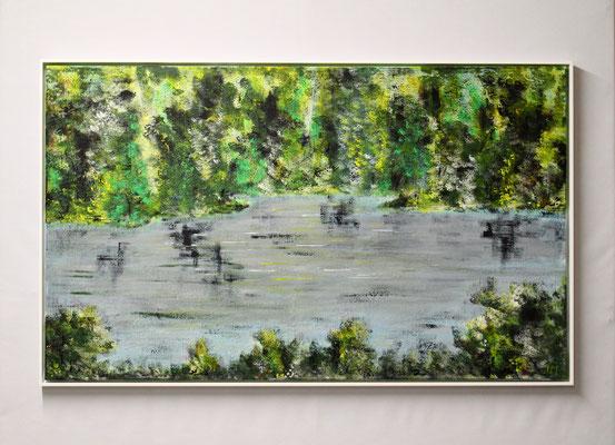 Am Wasser (60 x 100, mit Rahmen, 960 CHF)